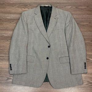 Jos A Bank Grey & Black Glen Plaid Blazer 44R